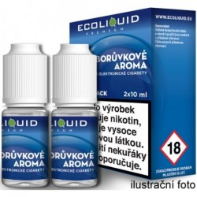 Liquid Ecoliquid Premium 2Pack Blueberry 2x10 ml - 20 mg