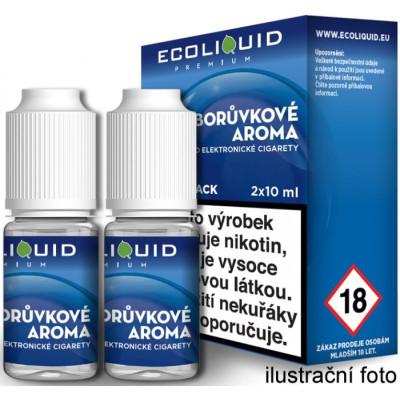 Liquid Ecoliquid Premium 2Pack Blueberry 2x10 ml - 3 mg