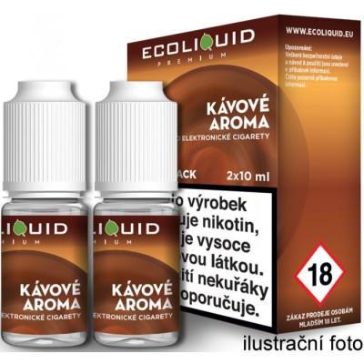 Liquid Ecoliquid Premium 2Pack Coffee 2x10 ml - 20 mg