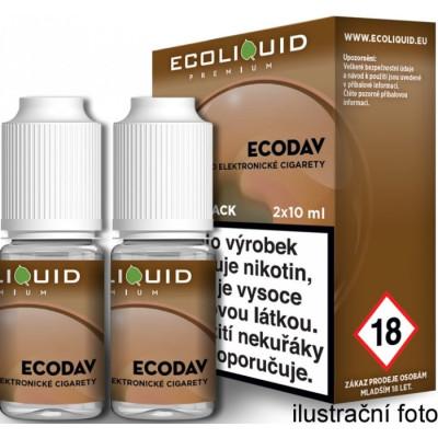 Liquid Ecoliquid Premium 2Pack ECODAV 2x10 ml - 06 mg