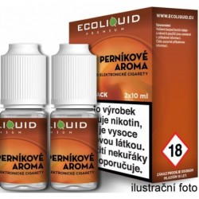 Liquid Ecoliquid Premium 2Pack Gingerbread tobacco 2x10 ml - 06 mg