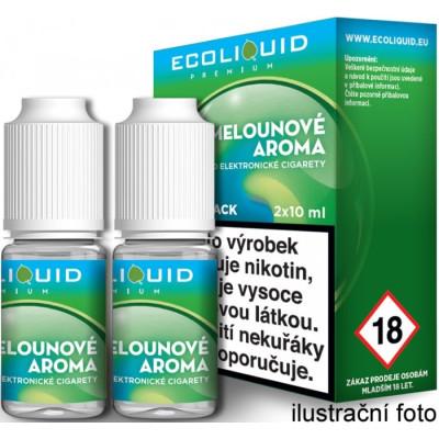 Liquid Ecoliquid Premium 2Pack ICE Melon 2x10 ml - 00 mg (Svěží meloun)