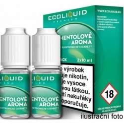 Liquid Ecoliquid Premium 2Pack Menthol 2x10 ml - 00 mg