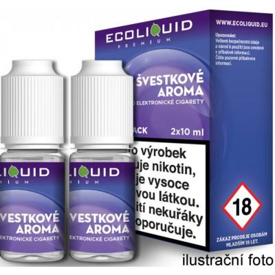 Liquid Ecoliquid Premium 2Pack Plum 2x10 ml - 03 mg