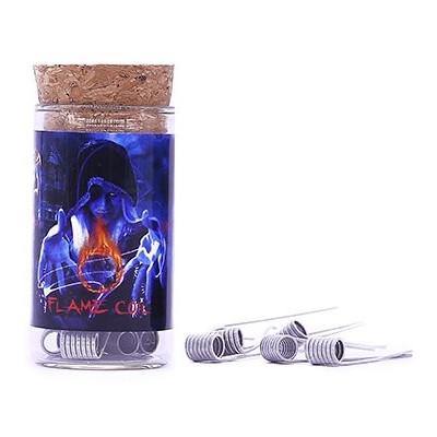 Demon Killer Flame Coil typ E předmotané spirálky SS316L - 0,25 ohm - 6 ks