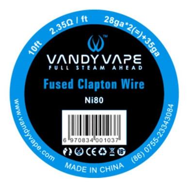 Vandy Vape Fused Clapton Ni80 odporový drát 26GA*2+35GA - 3 m