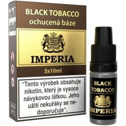 Ochucená báze IMPERIA Black Tobacco 5x10ml - 3mg