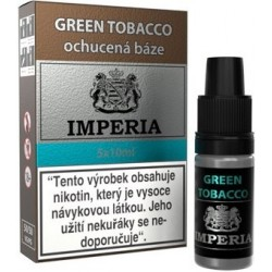 Ochucená báze IMPERIA Green Tobacco 5x10ml - 3mg