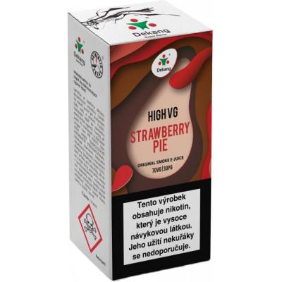 Liquid Dekang High VG Strawberry Pie 10ml - 6mg (Jahodový koláč)
