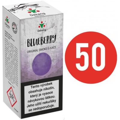 Liquid Dekang Fifty Blueberry 10 ml - 18 mg (Borůvka)
