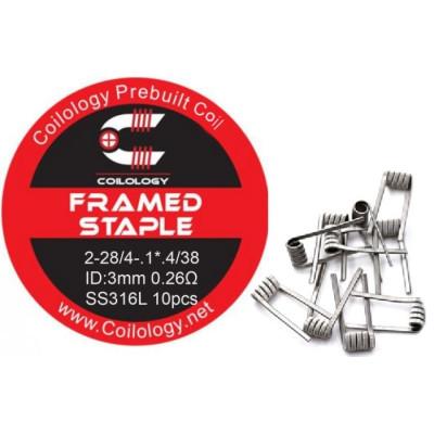 Coilology Framed Staple předmotané spirálky SS316L - 0,26 ohm 10 ks