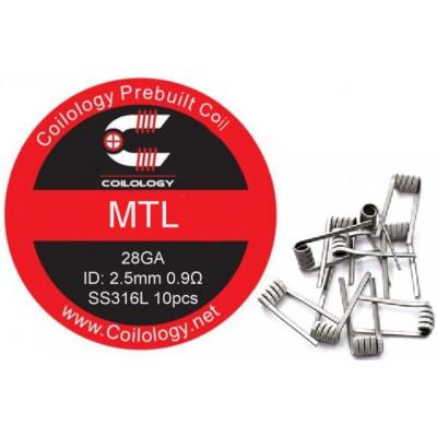 Coilology MTL předmotané spirálky SS316L - 0,9 ohm - 10 ks