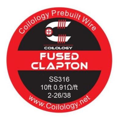 Coilology Fused Clapton odporový drát SS316 2-26/38 - 3 m