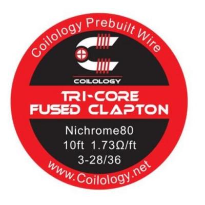 Coilology Tri-Core Fused Clapton odporový drát Ni80 3-28/36 - 3 m