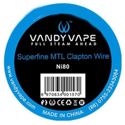 Vandy Vape Superfine MTL odporový drát Ni80 - 3 m