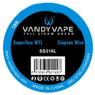 Vandy Vape Superfine MTL odporový drát SS316L - 3 m