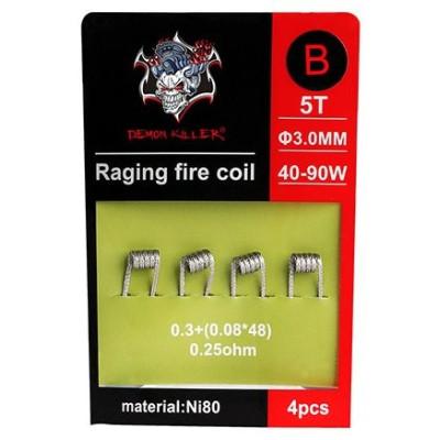 Demon Killer Raging Fire předmotané spirálky Ni80 - 0,25 ohm - Typ B