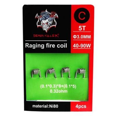 Demon Killer Raging Fire předmotané spirálky Ni80 - 0,32 ohm - Typ C