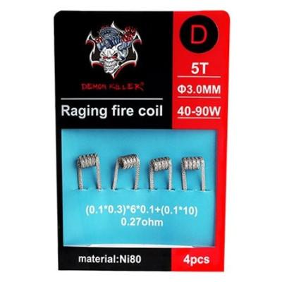 Demon Killer Raging Fire předmotané spirálky Ni80 - 0,27 ohm - Typ D