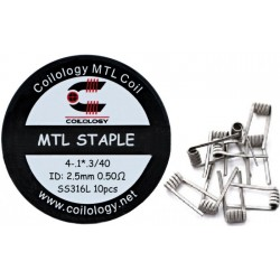 Coilology MTL Staple předmotané spirálky SS316L - 0,5 ohm - 10 ks