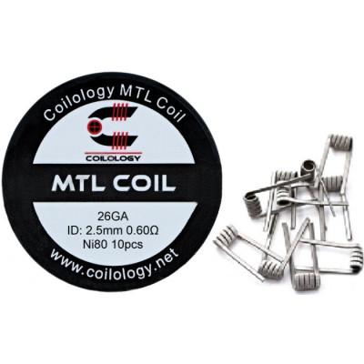 Coilology MTL Round  předmotané spirálky Ni80 - 0,6 ohm - 10 ks