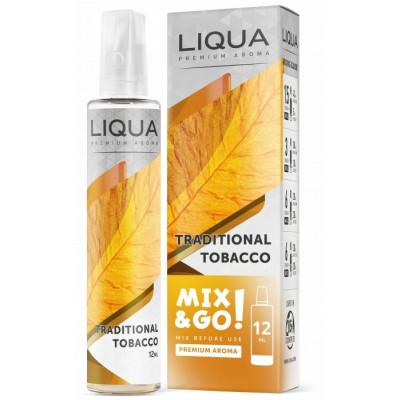 Příchuť Liqua Mix&Go 12 ml Traditional Tobacco