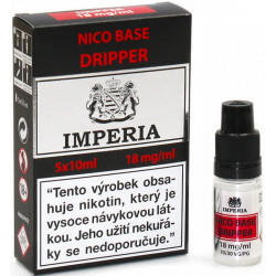Nikotinová báze CZ IMPERIA Dripper 5x10 ml PG30-VG70 18 mg