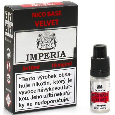 Nikotinová báze CZ IMPERIA Velvet 5x10 ml PG20-VG80 18 mg