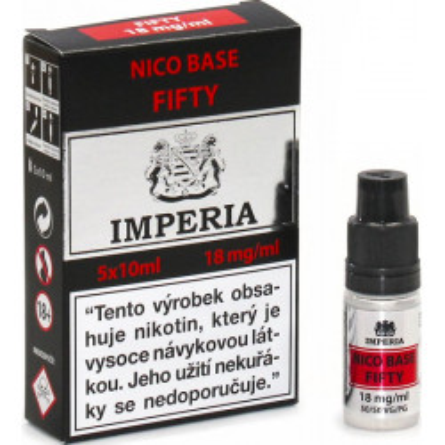 Nikotinová báze CZ IMPERIA 5x10 ml PG50-VG50 18 mg