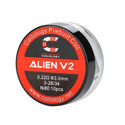 Coilology Alien V2 předmotané spirálky Ni80 - 0,22 ohm - 10 ks