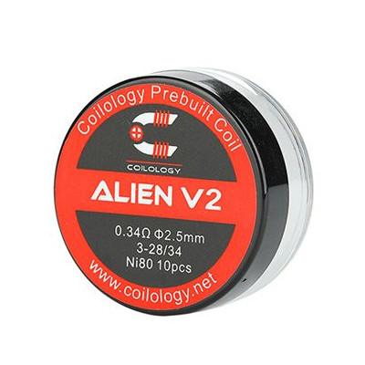 Coilology Alien V2 předmotané spirálky Ni80 - 0,34 ohm - 10 ks
