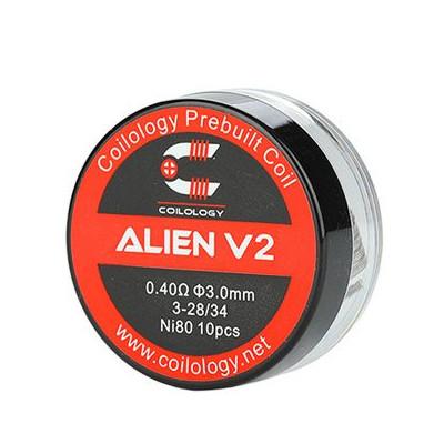 Coilology Alien V2 předmotané spirálky Ni80 - 0,4 ohm - 10 ks