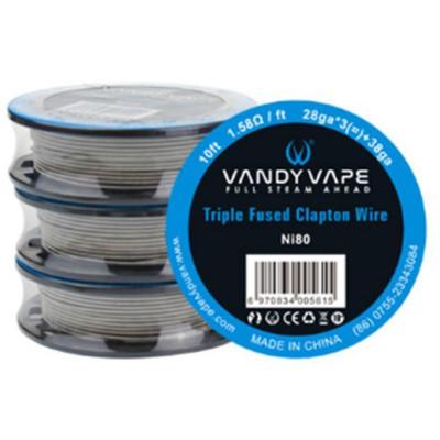 Vandy Vape Triple Fused Clapton Ni80 odporový drát 28GA-3+38GA - 3 m