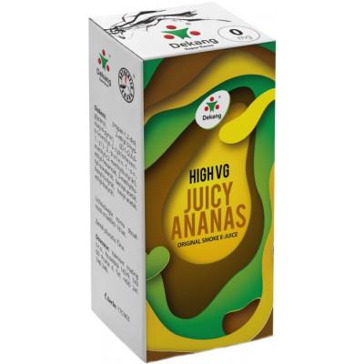 Liquid Dekang High VG Juicy Ananas 10 ml - 0 mg