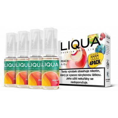 Liquid LIQUA CZ Elements 4Pack Peach 4x10 ml 3 mg