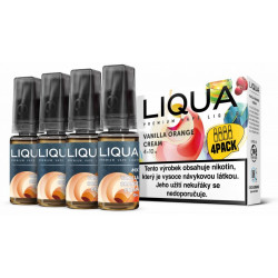 Liquid LIQUA CZ MIX 4Pack Vanilla Orange Cream 10 ml 3 mg
