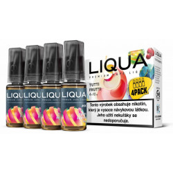 Liquid LIQUA CZ MIX 4Pack Tutti Frutti 10 ml 3 mg