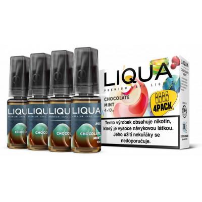Liquid LIQUA CZ MIX 4Pack Chocolate Mint 10 ml 06 mg