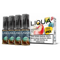 Liquid LIQUA CZ MIX 4Pack Chocolate Mint 10 ml 3 mg