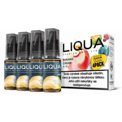 Liquid LIQUA CZ MIX 4Pack Banana Cream 10 ml 3 mg