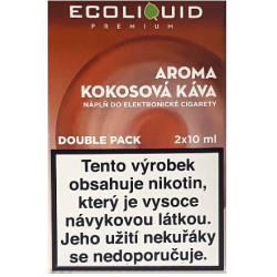 Liquid Ecoliquid Premium 2Pack Coconut Coffee 2x10 ml - 18 mg