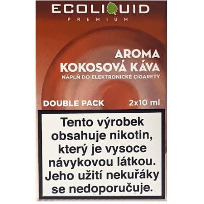Liquid Ecoliquid Premium 2Pack Coconut Coffee 2x10 ml - 3 mg