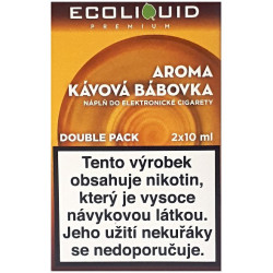 Liquid Ecoliquid Premium 2Pack Coffee Cake 2x10 ml - 18 mg
