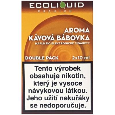 Liquid Ecoliquid Premium 2Pack Coffee Cake 2x10 ml - 3 mg