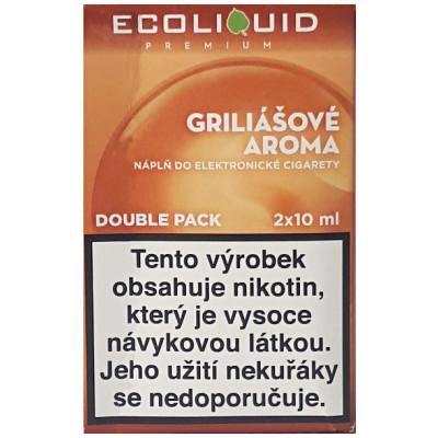 Liquid Ecoliquid Premium 2Pack Griliášové aroma 2x10 ml - 00 mg