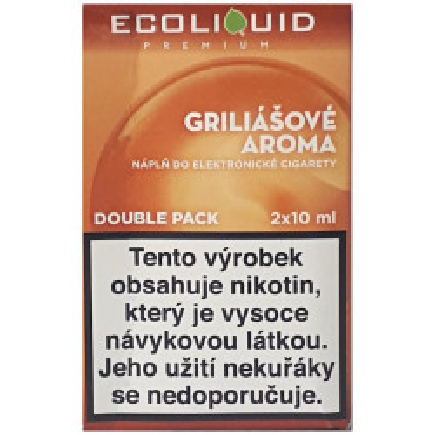 Liquid Ecoliquid Premium 2Pack Griliášové aroma 2x10 ml - 18 mg