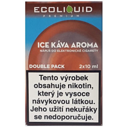 Liquid Ecoliquid Premium 2Pack Ice Coffee 2x10 ml - 20 mg