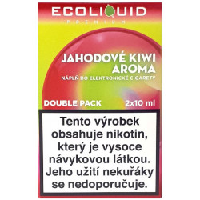 Liquid Ecoliquid Premium 2Pack Strawberry Kiwi 2x10 ml - 20 mg