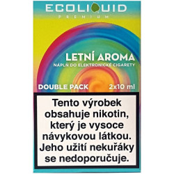 Liquid Ecoliquid Premium 2Pack Summer flavor 2x10 ml - 18 mg