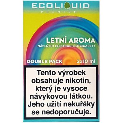 Liquid Ecoliquid Premium 2Pack Summer flavor 2x10 ml - 3 mg